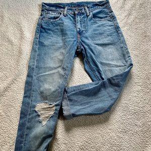 Levi Strauss Women's Straight Cut Blue Jeans